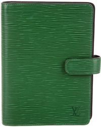 Louis Vuitton - Epi Large Ring Agenda Cover Green - Lyst