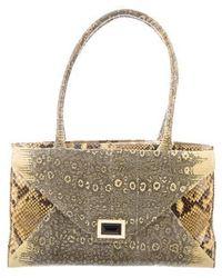 Kara Ross - Lizard & Python Shoulder Bag Yellow - Lyst
