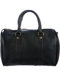 Clare V. - Soft Leather Satchel Black - Lyst