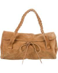 Miu Miu - Miu Suede Handle Bag Silver - Lyst