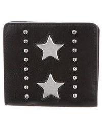 Rebecca Minkoff - Embellished Snap Wallet W/ Tags Black - Lyst