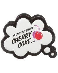 Sophia Webster - Cherry Coke Speech Bubble Clutch White - Lyst