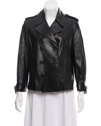 Michael Kors - Double-breasted Leather Jacket - Lyst