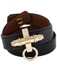 Givenchy - Obsedia Leather Wrap Bracelet Gold - Lyst