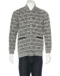 Thakoon Addition - Wool-blend Leather-trimmed Jacket Grey - Lyst