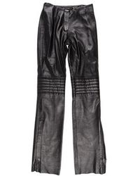 Mackage - Leather Mid-rise Pants - Lyst
