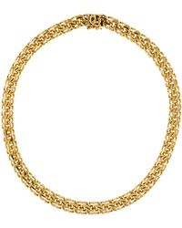 Tiffany & Co. - 14k Spiral Link Collar Necklace Rose - Lyst