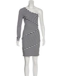 Torn By Ronny Kobo - Striped One-shoulder Dress - Lyst