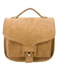 Opening Ceremony - Suede Oc Ny Satchel Beige - Lyst