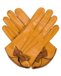 Marc Jacobs - Leather Bow-accented Gloves W/ Tags - Lyst