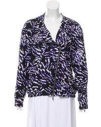 Karen Millen - Printed Zip-up Jacket - Lyst