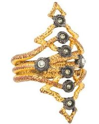 Alexis Bittar - Crystal Cocktail Ring Gold - Lyst