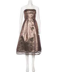 Sachin & Babi - Strapless Midi Dress Gold - Lyst