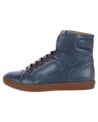 Brunello Cucinelli - Leather High-top Sneakers - Lyst