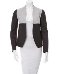 Narciso Rodriguez - Wool Colorblock Open Front Jacket W/ Tags Grey - Lyst