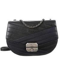 787b8ef5321425 Chanel - 2016 Gabrielle Chevron Crossbody Bag Black - Lyst