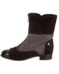 Chanel - Ponyhair Cc Boots - Lyst
