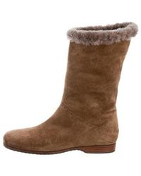 Henry Beguelin - Shearling Mid-calf Boots - Lyst