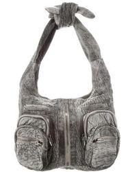 Alexander Wang - Leather Donna Bag Grey - Lyst