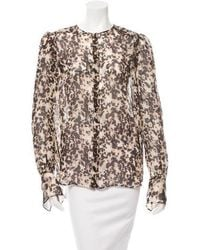 Givenchy - Silk Printed Top W/ Tags - Lyst