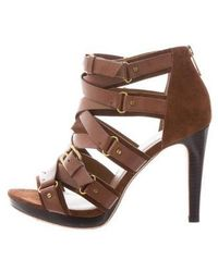 Kors by Michael Kors - Kors By Michael Caged Buckle Sandals Gold - Lyst
