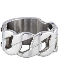 Michael Kors - Curb Chain Id Ring Silver - Lyst