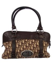 Dior - Leather-accented Diorissimo Tote Brown - Lyst