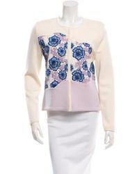 Giambattista Valli - Patterned Colorblock Cardigan W/ Tags Cream - Lyst