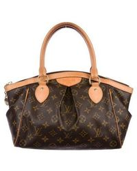 7caf29f12745 Lyst - Louis Vuitton Tivoli Pm Shoulder Bag in Brown