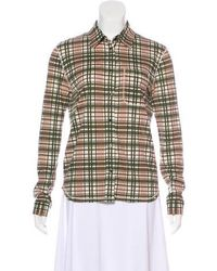 Kors by Michael Kors - Kors By Michael Check Button-up Top - Lyst
