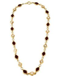 Chanel - Gripoix Station Necklace Gold - Lyst