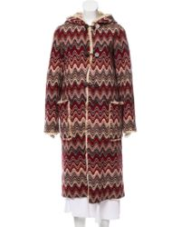 Missoni - Fur-lined Wool Coat - Lyst