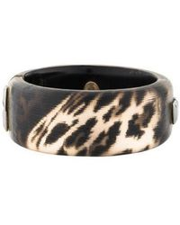 Alexis Bittar - Lucite Hinged Bangle Gold - Lyst