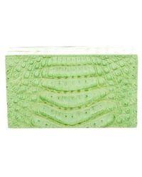 Nancy Gonzalez - Crocodile Box Clutch Lime - Lyst