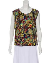 Dries Van Noten - Sleeveless Embroidered Top Multicolor - Lyst