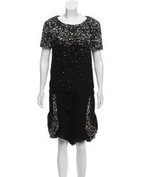 SUNO - Structured Sequin Embellished Romper - Lyst