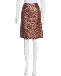 Lanvin - Pencil Skirt W/ Tags Bronze - Lyst