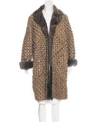 Bottega Veneta - Shearling-trimmed Leather Coat Tan - Lyst