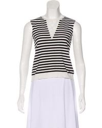 04baa7a000e Lyst - Chanel Striped Halter Top in White
