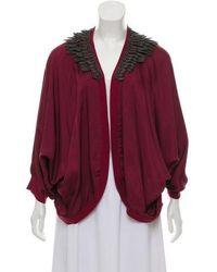 Elizabeth and James - Embellished Open Front Kimono - Lyst