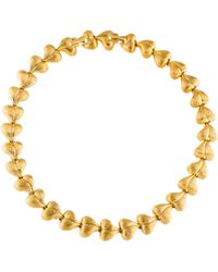 Nina Ricci - Heart Link Collar Necklace Gold - Lyst