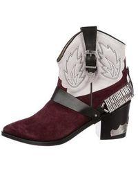 Toga - Chain-link Cowboy Boots Black - Lyst