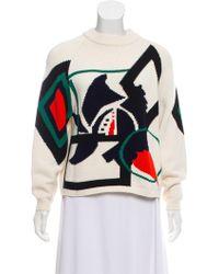 Jil Sander Navy - Wool Blend Printed Sweater Multicolor - Lyst