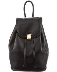 Mark Cross - Leather Flap Backpack Black - Lyst