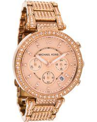 9fff4222757b Lyst - Michael Kors Parker Silicone Strap Watch