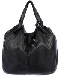 M Missoni - Leather Knot Tote Black - Lyst