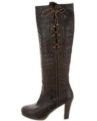 Henry Beguelin - Distressed Knee-high Boots - Lyst