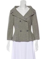 Michael Kors - Double-breasted Wool Jacket Grey - Lyst