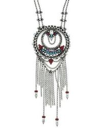 DANNIJO - Zamira Pendant Necklace Silver - Lyst