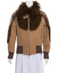 Marc Jacobs - Shearling Trim Jacket - Lyst